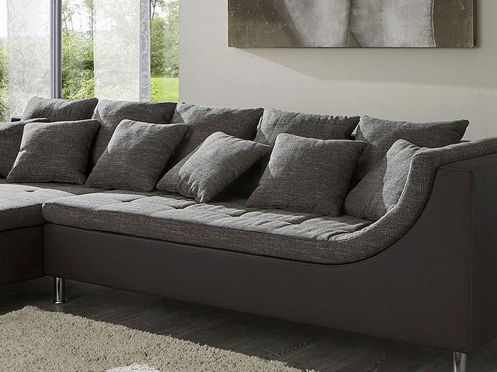 eckcouch madeleine 326x213cm webstoff braun kunstleder braun wohnbereiche wohnzimmer sofa. Black Bedroom Furniture Sets. Home Design Ideas