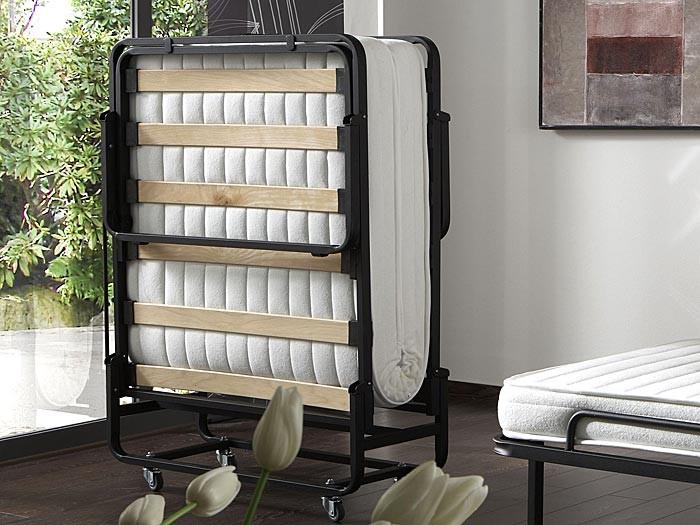 g stebett klappbett finn 90x200 schwarz verstellbar auf. Black Bedroom Furniture Sets. Home Design Ideas