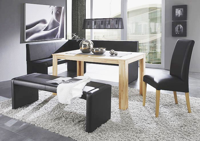 polsterbank bern 140cm kunstleder elektra schwarz. Black Bedroom Furniture Sets. Home Design Ideas