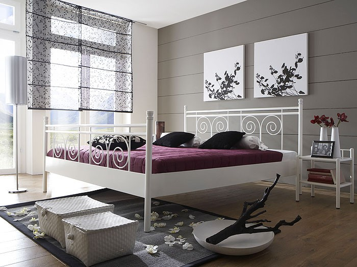 metallbett wei 180 200. Black Bedroom Furniture Sets. Home Design Ideas