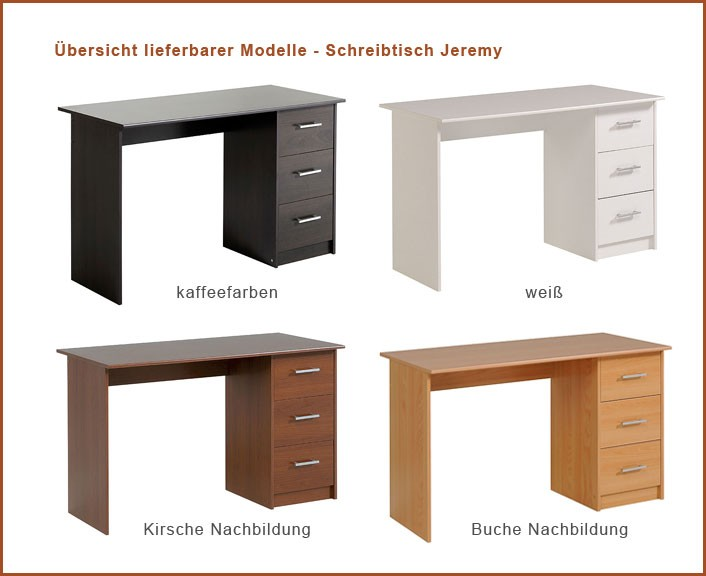 schreibtisch b rotisch jeremy 1 121x75x55cm wei computertisch wohnbereiche kinder. Black Bedroom Furniture Sets. Home Design Ideas