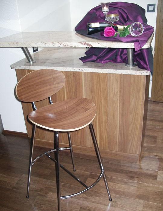 4x barstuhl barhocker curve walnuss furniert 4er set. Black Bedroom Furniture Sets. Home Design Ideas