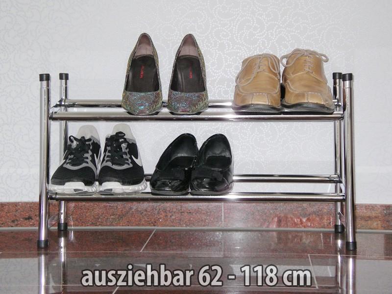 schuhregal prim 62 118x35x23cm ausziehbar f r 12 paar schuhe wohnbereiche k che. Black Bedroom Furniture Sets. Home Design Ideas