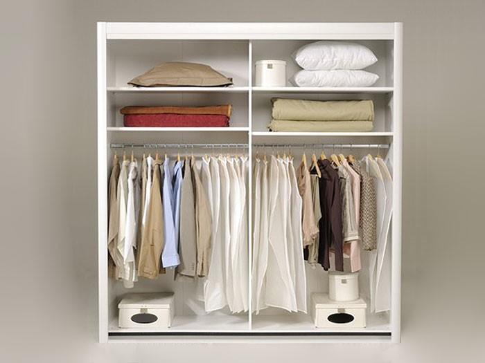 schwebet renschrank weiss 203x217x61cm spiegelt ren kleiderschrank carolin 3 ebay. Black Bedroom Furniture Sets. Home Design Ideas
