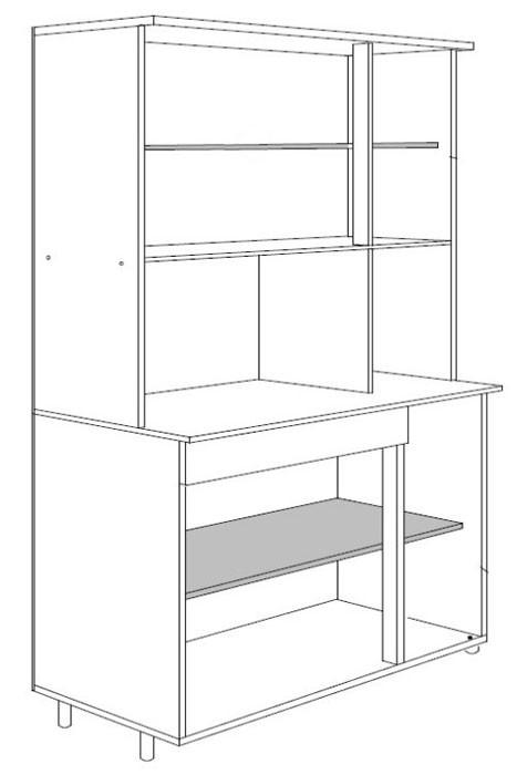 K chenschrank k chenbuffet vulkan 120x185x44cm anthrazit for Sideboard zeichnung