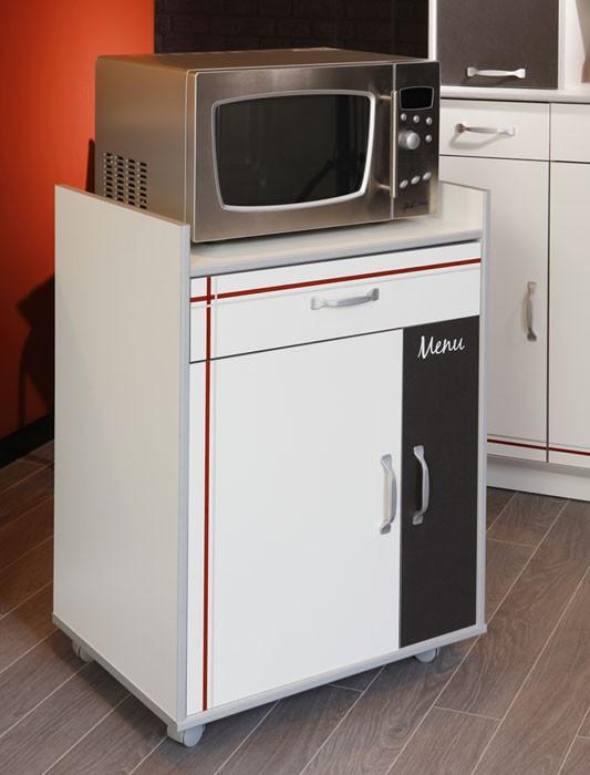 k chenschrank anrichte cosina 4 60x80x44cm rollbar wei. Black Bedroom Furniture Sets. Home Design Ideas