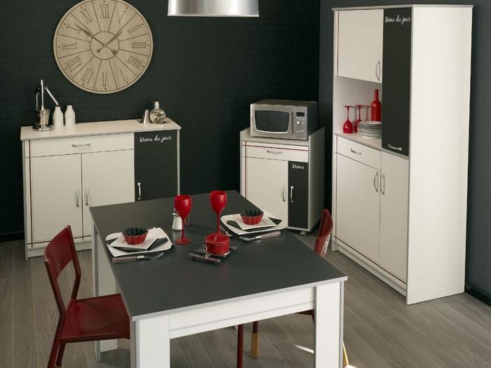 Küchenmöbel weiß  Küchenmöbel komplett Cosina 9, 4-teilig weiß, Schrank Anrichte ...