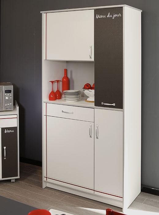 Küchenmöbel komplett Cosina 9, 4-teilig weiß, Schrank Anrichte ...
