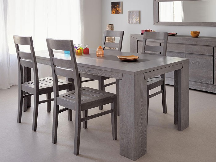 esszimmer heros 3 eiche grau 1x esstisch 4x stuhl 1x sideboard wohnbereiche esszimmer. Black Bedroom Furniture Sets. Home Design Ideas