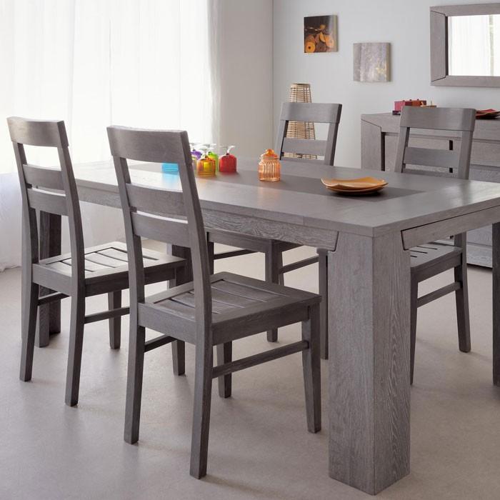 4x holzstuhl heros eiche grau stuhlgruppe esszimmer for Holzstuhl grau