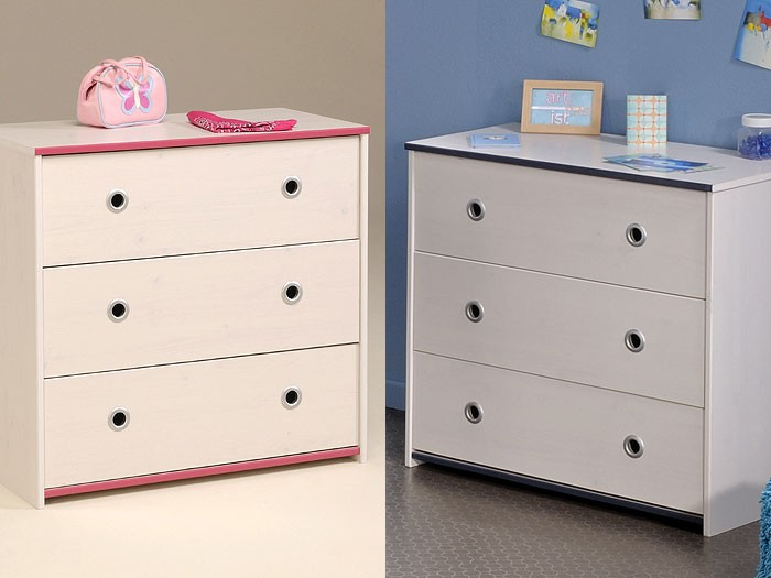 kommode snoopy 9 79x75x41cm wei pink blau. Black Bedroom Furniture Sets. Home Design Ideas