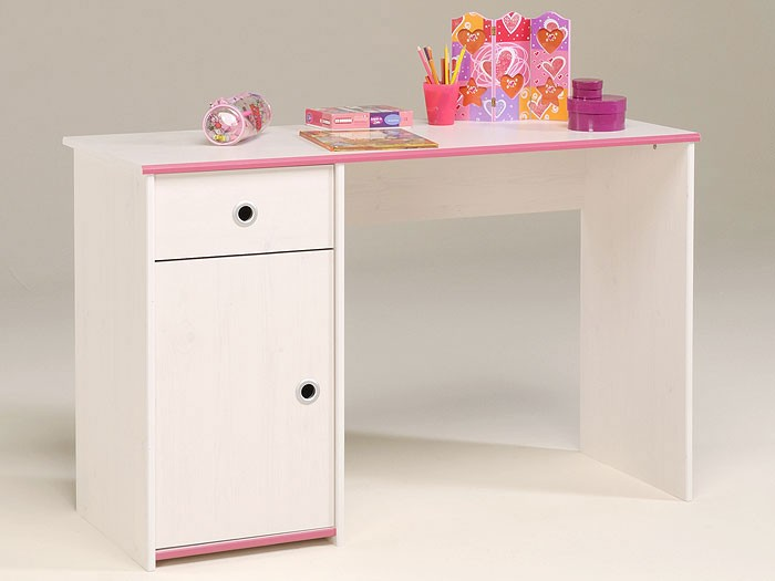 schreibtisch snoopy 8 121x77x50cm wei pink blau. Black Bedroom Furniture Sets. Home Design Ideas