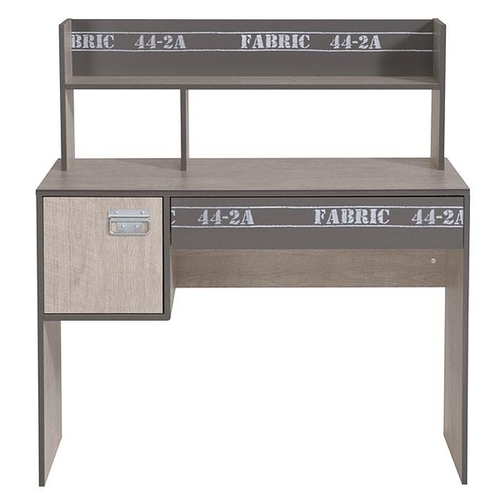 Schreibtisch fabien 8 108x114x56cm esche grau for Schreibtisch in grau