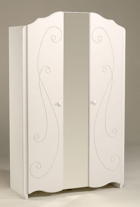 kleiderschrank anne 13 116x188x52cm wei lackiert 2. Black Bedroom Furniture Sets. Home Design Ideas