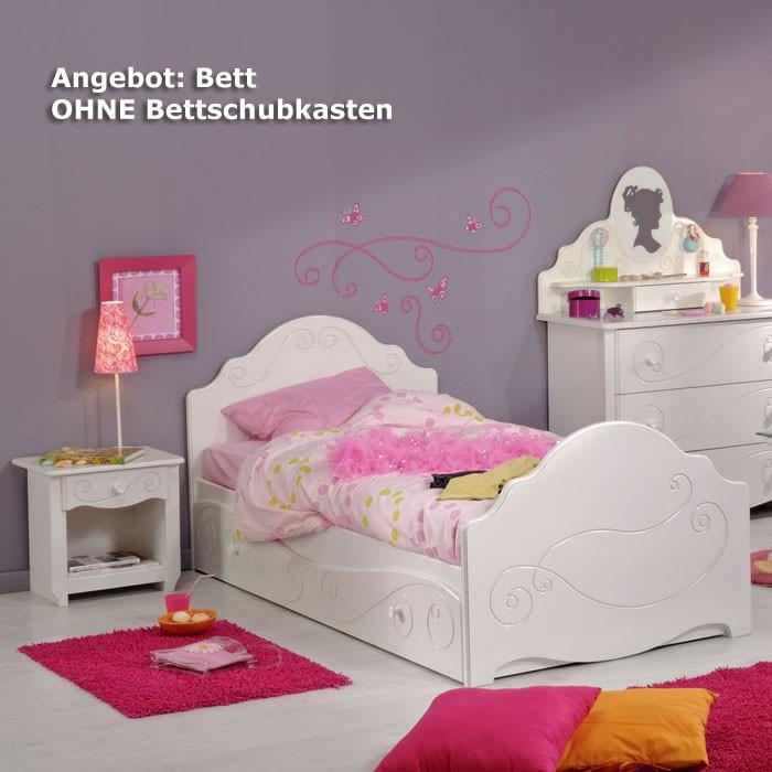 kinderbett anne 4 wei lackiert 90x200 mit nachttisch kinderzimmer m dchenzimmer ebay. Black Bedroom Furniture Sets. Home Design Ideas