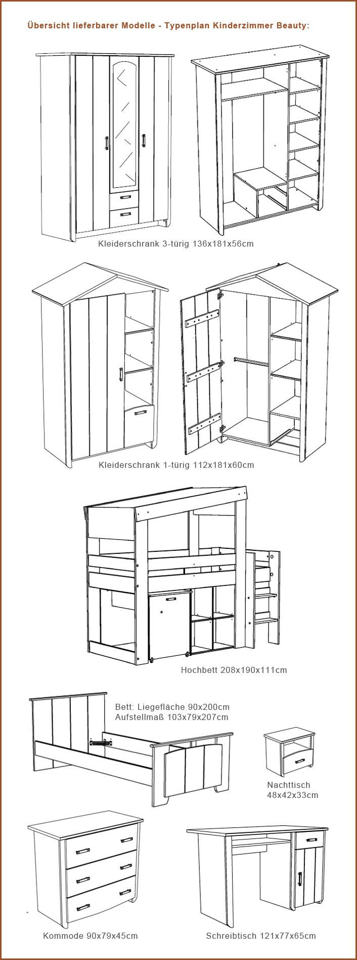 kleiderschrank beauty 11 136x181x56cm wei rosa 3 t rig wohnbereiche kinder jugendzimmer. Black Bedroom Furniture Sets. Home Design Ideas