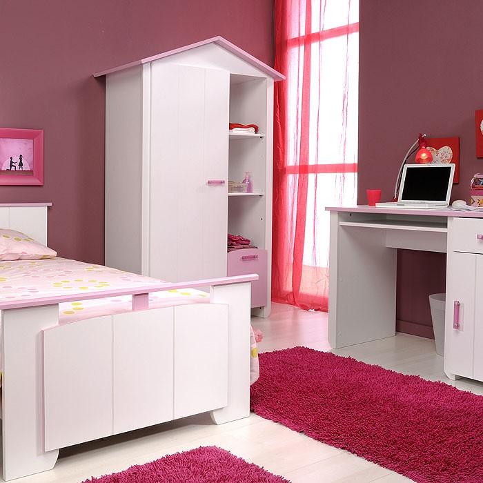 kleiderschrank wei rosa 112x181x60cm. Black Bedroom Furniture Sets. Home Design Ideas