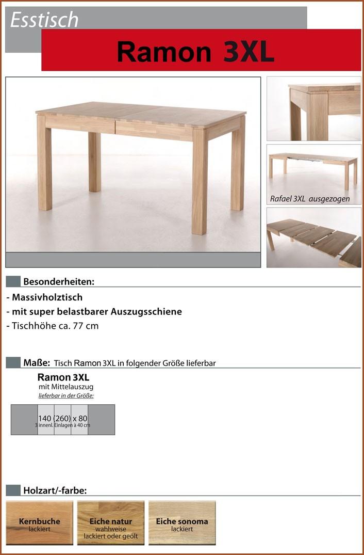 esstisch holztisch 140 260 x80x77cm eiche sonoma lackiert mittelauszug ramon 3xl ebay. Black Bedroom Furniture Sets. Home Design Ideas