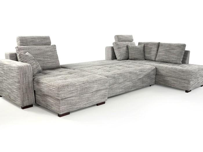 wohnlandschaft antigua braun 357x222x162cm bettfunktion sofa polsterecke couch ebay. Black Bedroom Furniture Sets. Home Design Ideas