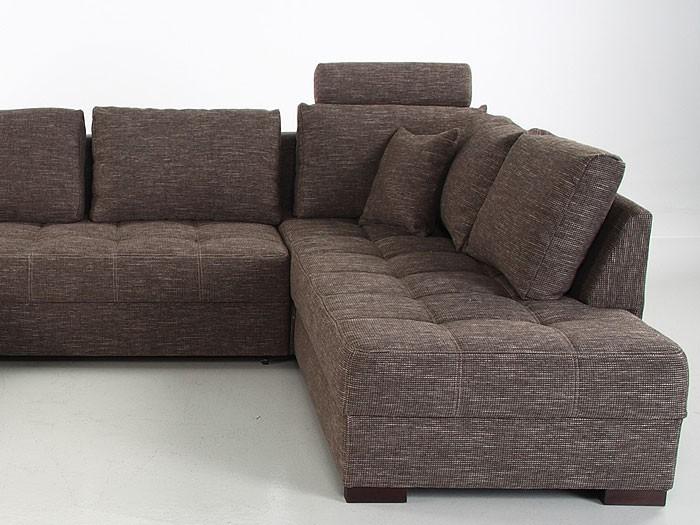 Wohnlandschaft braun strukturstoff  Wohnlandschaft Antigua braun 357x222x162 cm Bettfunktion Sofa ...