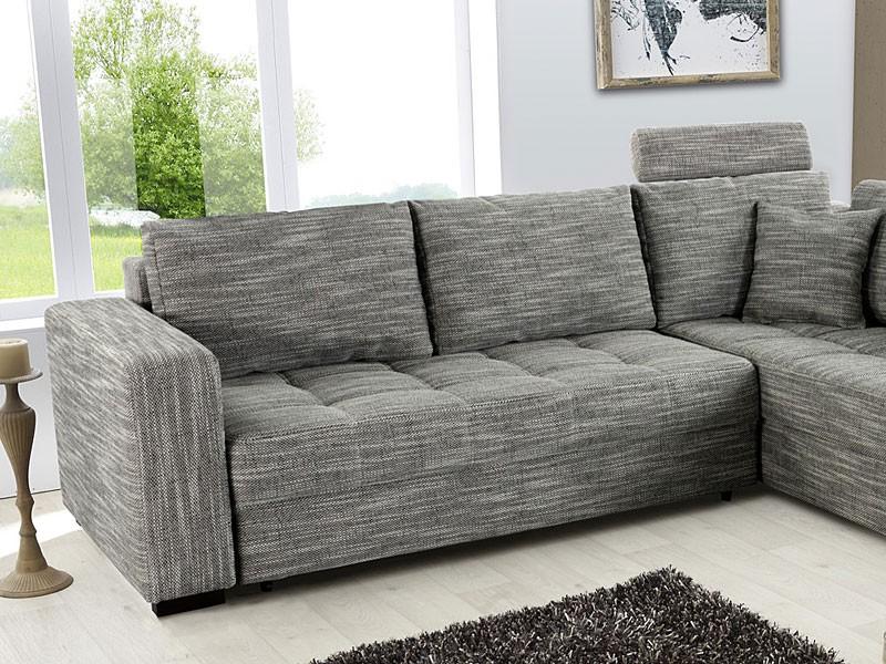 polsterecke aurum grau 267x221cm bettfunktion sofa couch eckcouch wohnbereiche wohnzimmer sofa. Black Bedroom Furniture Sets. Home Design Ideas