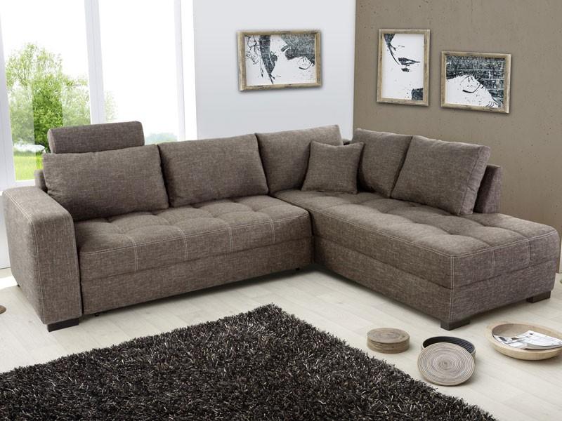 polsterecke aurum braun 267x221cm bettfunktion sofa couch eckcouch wohnzimmer ebay. Black Bedroom Furniture Sets. Home Design Ideas