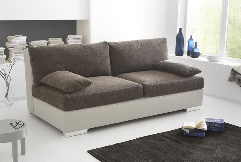 boxspring schlafsofa somerset braun beige 202x106cm dauerschl fer wohnbereiche wohnzimmer sofa. Black Bedroom Furniture Sets. Home Design Ideas