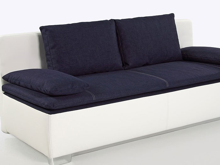 schlafsofa couch duana 202x96cm blau weiss. Black Bedroom Furniture Sets. Home Design Ideas