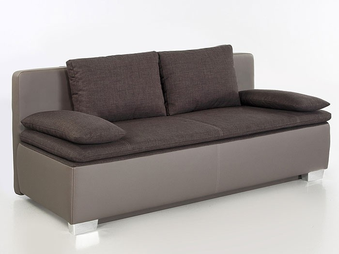 schlafsofa couch duana 202x96cm braun elefant. Black Bedroom Furniture Sets. Home Design Ideas