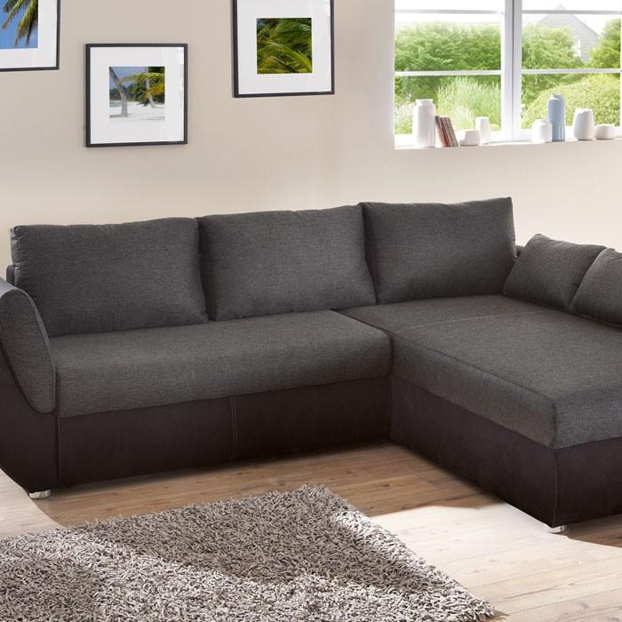 ecksofa couch tifon 272x200cm schwarz bettfunktion