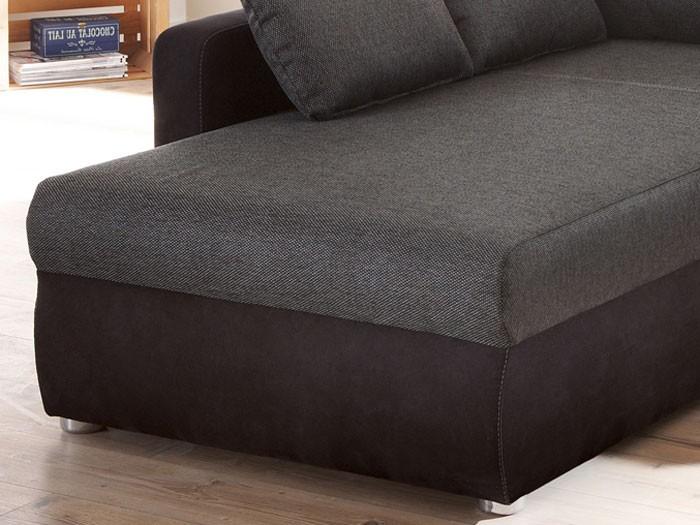 Ecksofa Couch Tifon 272x200cm, schwarz, Bettfunktion Polsterecke Sofa Wohnbereiche Wohnzimmer ...