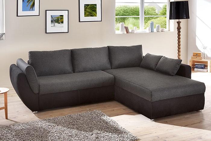 ecksofa couch tifon 272x200cm schwarz bettfunktion polsterecke sofa wohnbereiche wohnzimmer