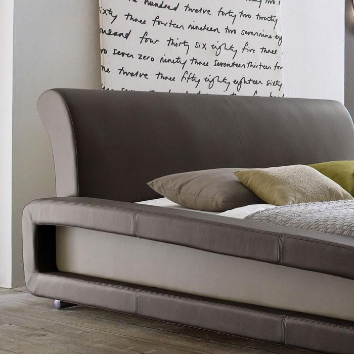 polsterbett blain 160x200cm braun muddy bettgestell doppelbett wohnbereiche schlafzimmer betten. Black Bedroom Furniture Sets. Home Design Ideas