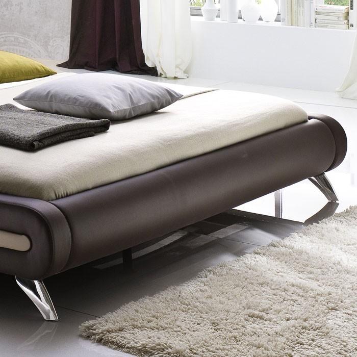 polsterbett malin 180x200cm braun bettgestell doppelbett. Black Bedroom Furniture Sets. Home Design Ideas