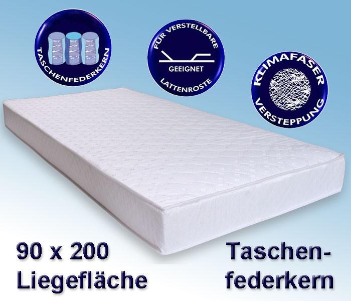 matratze avance 90x200cm taschenfederkernmatratze. Black Bedroom Furniture Sets. Home Design Ideas