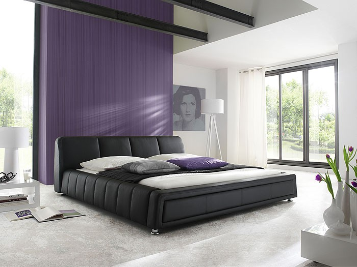 polsterbett komplett aron bett 180x200 schwarz. Black Bedroom Furniture Sets. Home Design Ideas