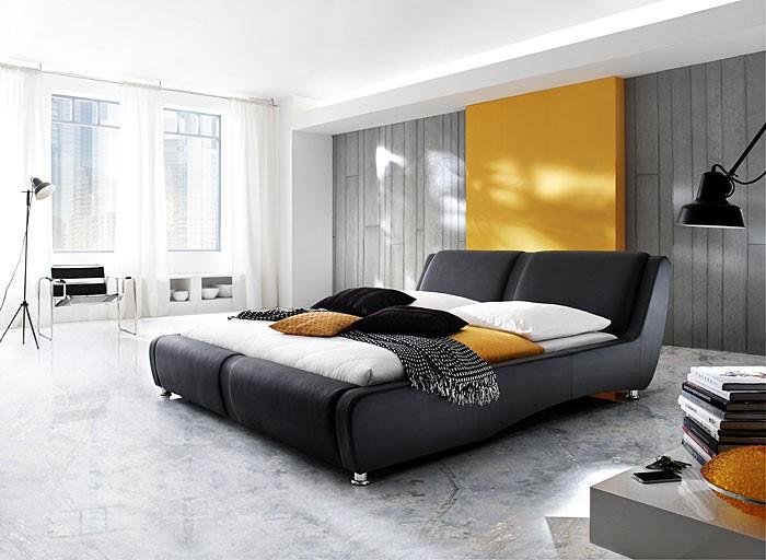 polsterbett komplett noel bett 180x200 schwarz matratze. Black Bedroom Furniture Sets. Home Design Ideas