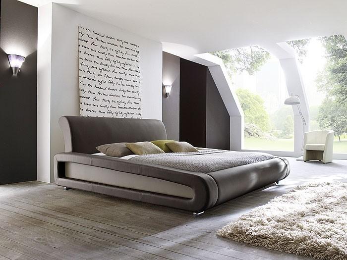 polsterbett komplett blain bett 180x200 braun lattenrost. Black Bedroom Furniture Sets. Home Design Ideas