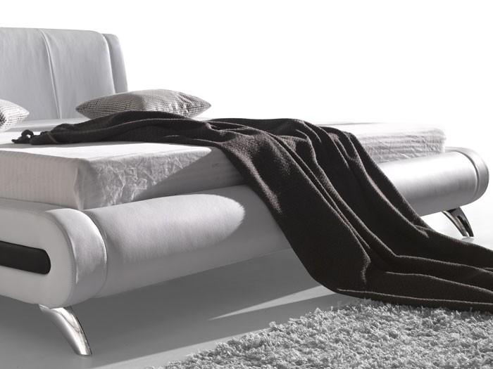 polsterbett komplett malin bett 140x200 weiss lattenrost. Black Bedroom Furniture Sets. Home Design Ideas
