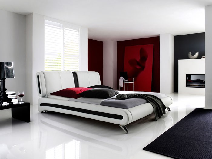 polsterbett komplett malin bett 140x200 weiss lattenrost. Black Bedroom Furniture Sets. Home Design Ideas