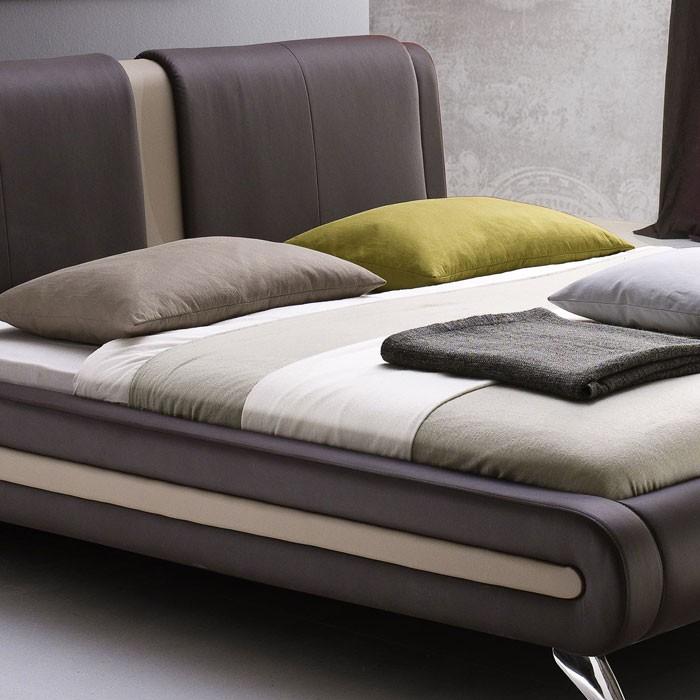 polsterbett komplett malin bett 160x200 braun lattenrost matratze wohnbereiche schlafzimmer. Black Bedroom Furniture Sets. Home Design Ideas