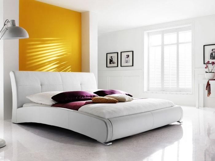 Polsterbett komplett Amadeo Bett 160x200 weiß + Lattenrost + ...
