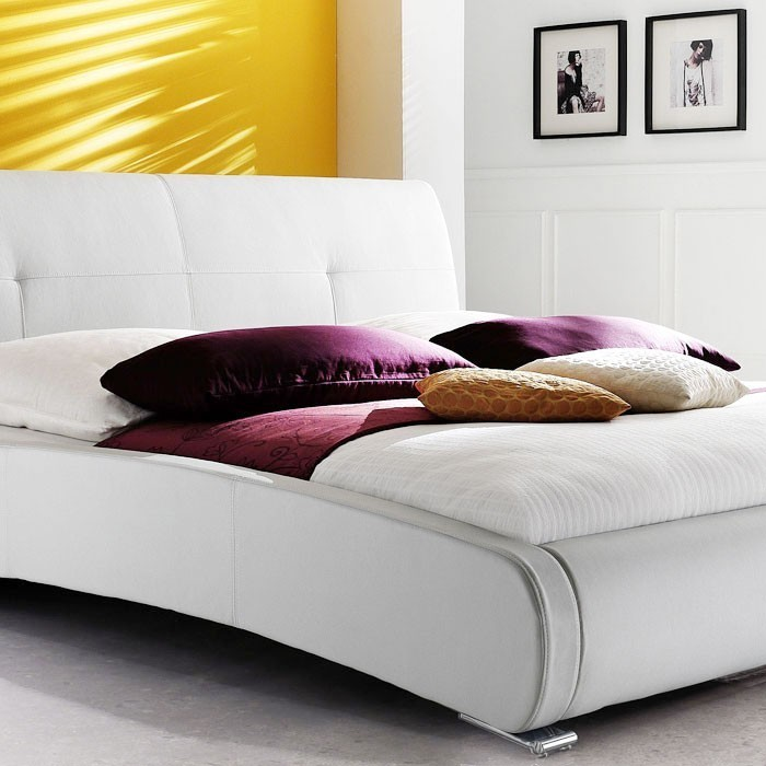 polsterbett komplett amadeo bett 180x200 wei lattenrost matratze wohnbereiche schlafzimmer. Black Bedroom Furniture Sets. Home Design Ideas