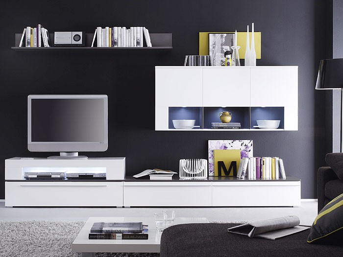 tv schrankwand roller interessante ideen. Black Bedroom Furniture Sets. Home Design Ideas