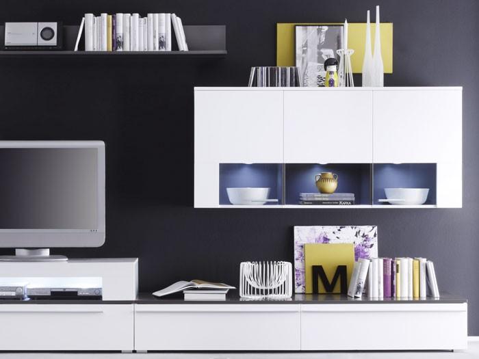 wohnwand craig weiss anthrazit 312x190x47 schrankwand wohnzimmerschrank wohnbereiche wohnzimmer. Black Bedroom Furniture Sets. Home Design Ideas
