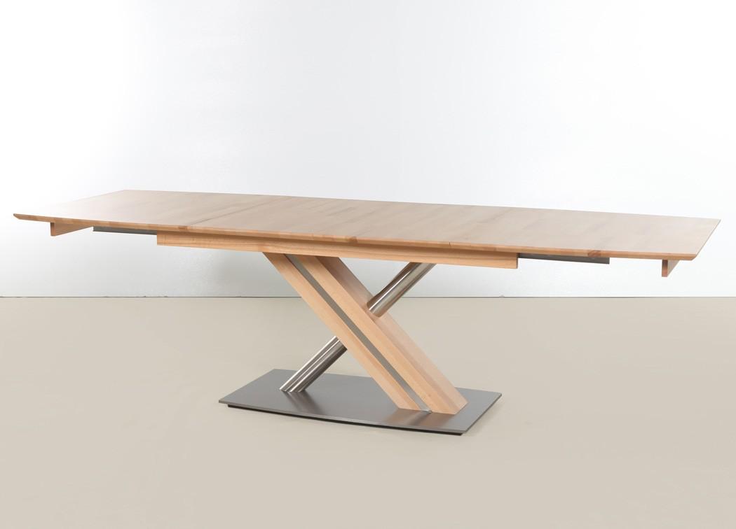 Säulentisch Ataro C 1XL bootsform Tisch ausziehbar X-Form Esstisch ...