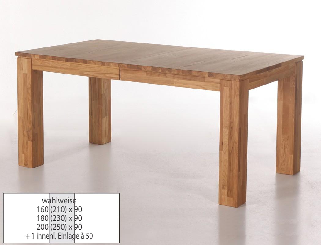 eichetisch harrow 1xl esstisch ausziehbar massivholztisch mittelauszug wohnbereiche esszimmer. Black Bedroom Furniture Sets. Home Design Ideas