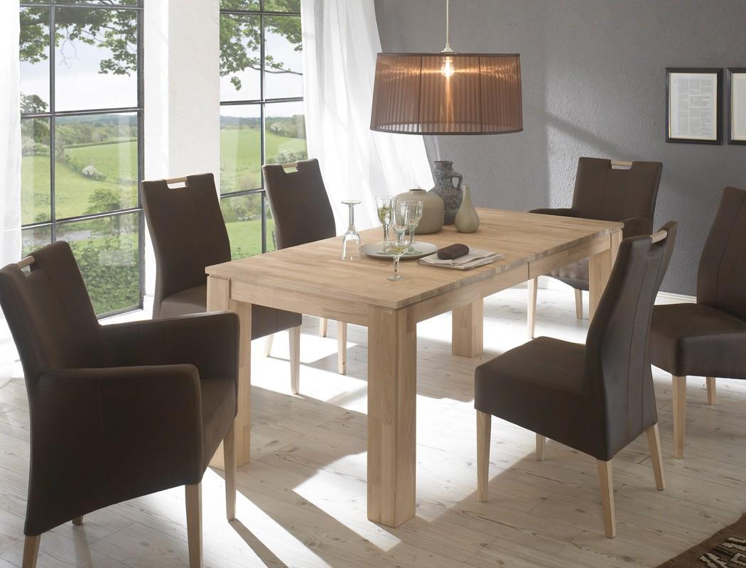 Hochwertiger eichetisch esstisch ausziehbar holztisch for Holztisch esstisch