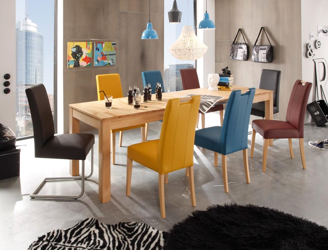 Holztisch 140 x 80 esstisch x ausziehbar groa massivholz for Esstisch glas 140 x 80