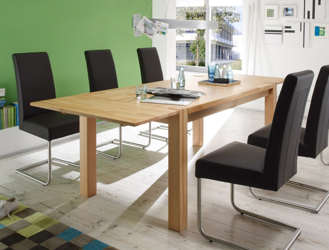 86 esstisch paris 85x140 landhausstil erweiterbar. Black Bedroom Furniture Sets. Home Design Ideas